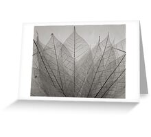 skeleton leaves Greeting Card