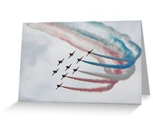 Red Arrows in Formation Greeting Card
