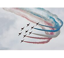 Red Arrows in Formation Photographic Print