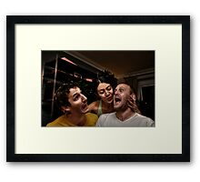 The Housemates & The Kiss of Death! Framed Print