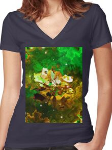 The Four Elements: Earth Women's Fitted V-Neck T-Shirt