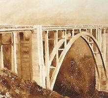 Bixby Bridge  by heartmelinda