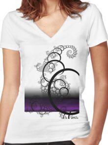 Iimawashi Women's Fitted V-Neck T-Shirt