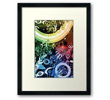 Rainbow Paintbrush Framed Print