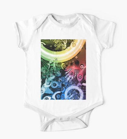 Rainbow Paintbrush One Piece - Short Sleeve