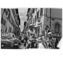 Italian Street Scene Poster