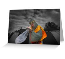 Robert the Bruce and the sword Greeting Card