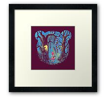 Girl and the bear Framed Print