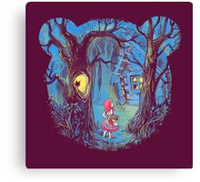 Girl and the bear Canvas Print