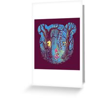 Girl and the bear Greeting Card