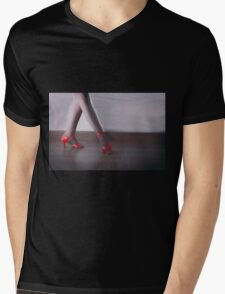 Red dancing shoes Mens V-Neck T-Shirt