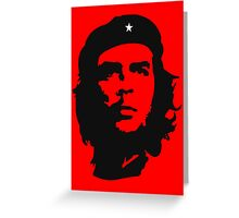Che Guevara, Revolution, Marxist, Revolutionary, Cuba, Power to the people! Black on Red Greeting Card