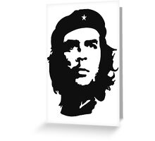 CHE, Che Guevara, Revolution, Marxist, Revolutionary, Cuba, Power to the people! Black on Red Greeting Card