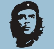 CHE, Che Guevara, Revolution, Marxist, Revolutionary, Cuba, Power to the people! Black on Red Kids Clothes