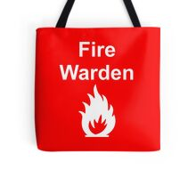 Fire Warden by Exit Incorporated Tote Bag