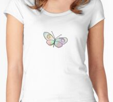 Wire Buttefly Women's Fitted Scoop T-Shirt