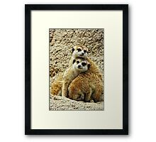 We All Need Somebody To Lean On... Framed Print