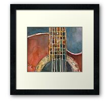 Ovation Acoustic Red Guitar Framed Print