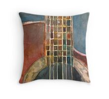 Ovation Acoustic Red Guitar Throw Pillow