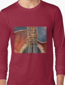 Ovation Acoustic Red Guitar Long Sleeve T-Shirt