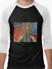 Ovation Acoustic Red Guitar Men's Baseball ¾ T-Shirt