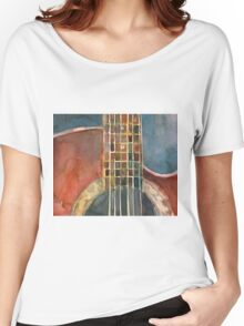 Ovation Acoustic Red Guitar Women's Relaxed Fit T-Shirt