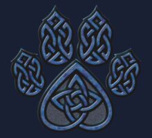 Celtic Knot Pawprint - Blue by CGafford