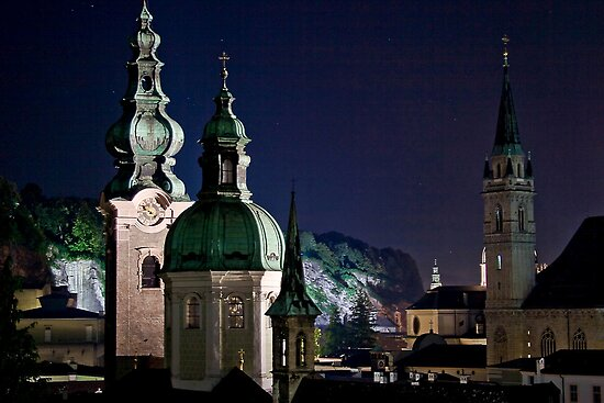 Salzburg, Austria skyline at night by Eros Fiacconi (Sooboy)