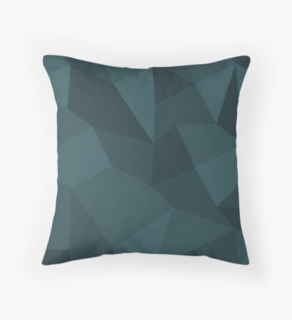 Poly Based - Blue Throw Pillow