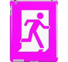 Emergency Exit Sign, with the Running Man iPad Case/Skin