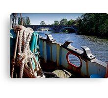 Grain barge Canvas Print