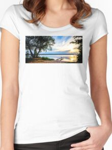 Fishing by the Pier Women's Fitted Scoop T-Shirt