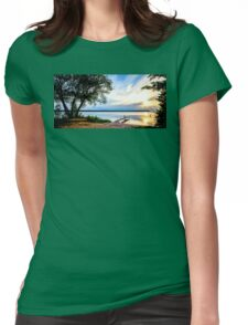 Fishing by the Pier Womens Fitted T-Shirt