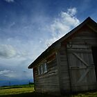 Blue skies - Frontier Barn by Jamie  Palmer