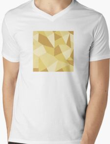 Poly Based - Yellow Mens V-Neck T-Shirt