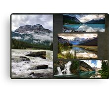 Canadian Rockies Collage Canvas Print
