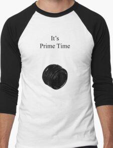 Prime Time Light Colored Men's Baseball ¾ T-Shirt