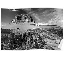 Glacier NP black and white Poster