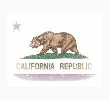 Vintage Fade California Republic Flag Kids Clothes
