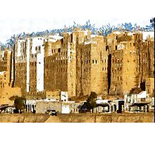 """The Oldest Skyscraper City in the World"" , Shibam, Yemen Photographic Print"