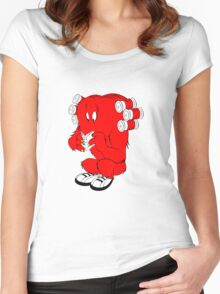 Gossamer reading  full color geek funny nerd Women's Fitted Scoop T-Shirt