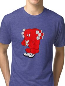 Gossamer reading  full color geek funny nerd Tri-blend T-Shirt