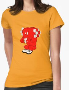 Gossamer reading  full color geek funny nerd Womens Fitted T-Shirt
