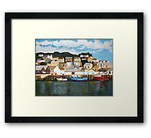 Looe Harbour Study. Framed Print