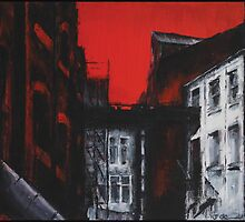 Red Sky (inspired by Harper Street, Leeds) by John O'Connor