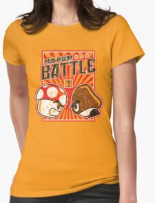 Mushroom Battle Womens Fitted T-Shirt