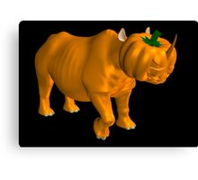 Weird Halloween Rhinoceros Canvas Print