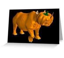 Weird Halloween Rhinoceros Greeting Card
