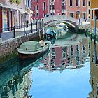 Crossing the bridge, Venice by Freda Surgenor