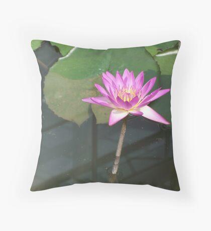 Delicate Purple Water Lliy Throw Pillow